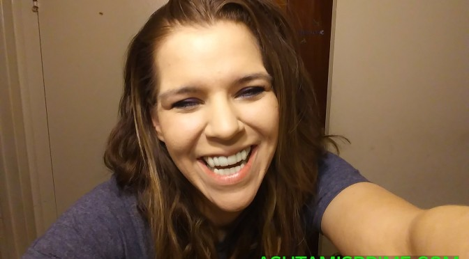 Being silly with my new smile