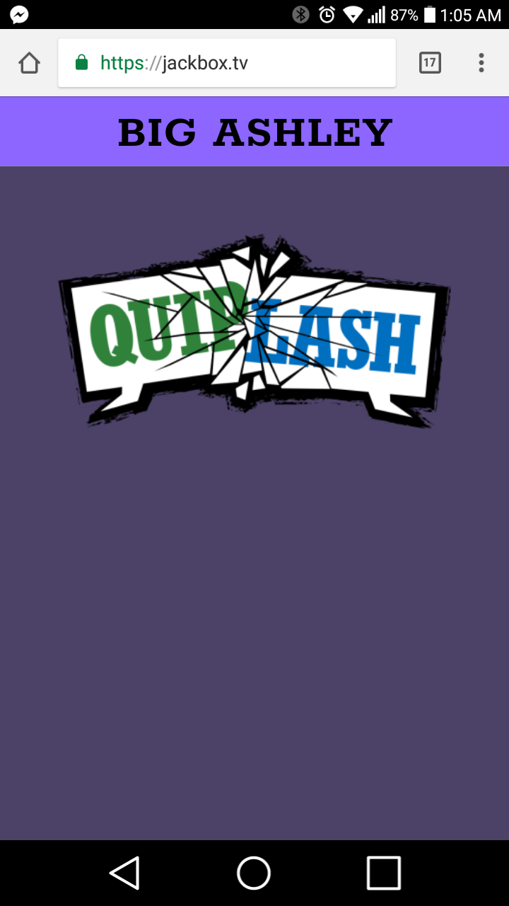 Playing Quiplash with mypals