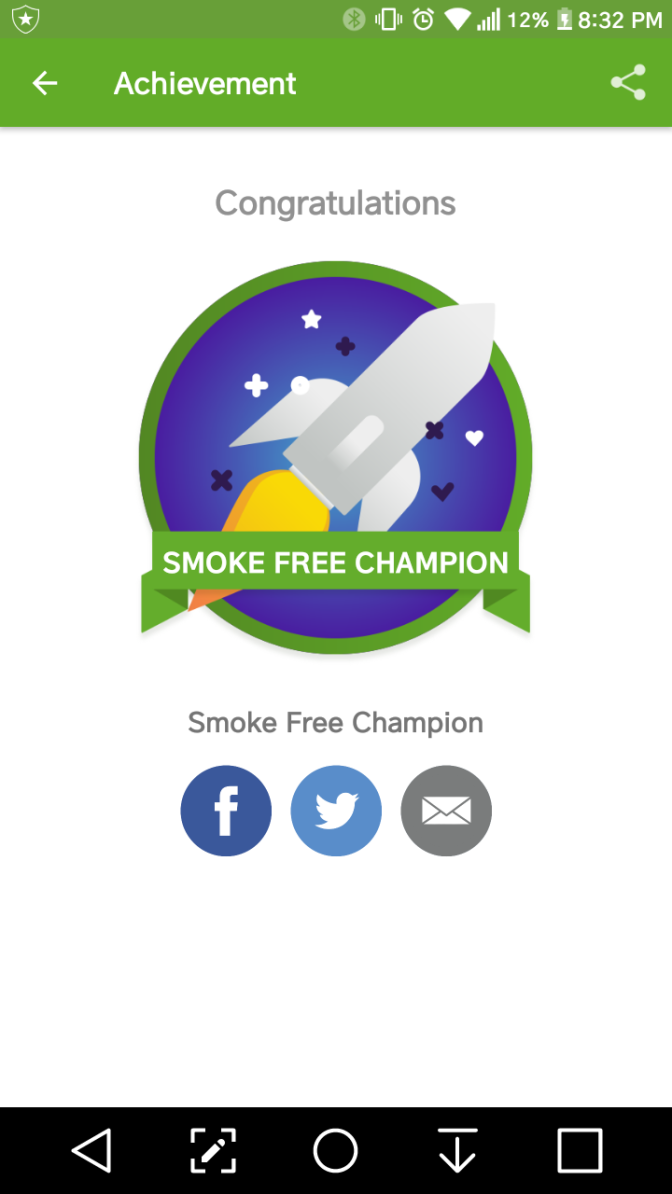 smoke free in less than 24 hours