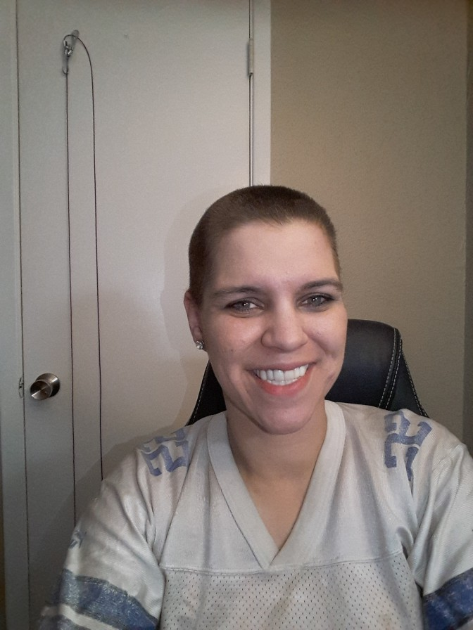 A few days after I shaved my head